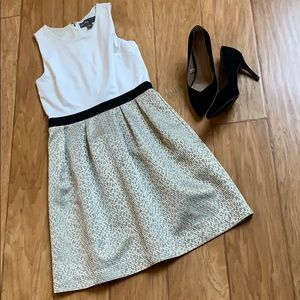 {Donna Rocco} cream and gold dress